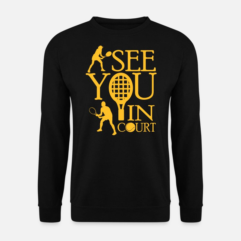 Wimbledon Hoodies & Sweatshirts - Tennis  - I see you in court - Men's Sweatshirt black