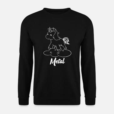 Metal Metal Unicorn - Unicorn - Metal - Musique - Sweat-shirt Homme