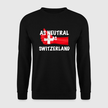 Neutre Neutre comme la Suisse - Sweat-shirt Homme