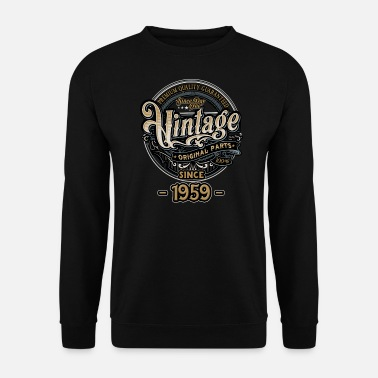 Vintage Day One Vintage since 1959 - Original Parts RAHMENLOS Birthday - Männer Pullover