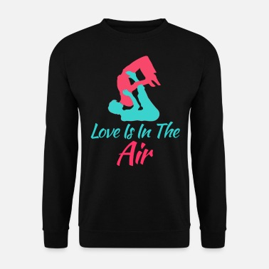 Fichissimo L'adorabile e rilassante Acro Yoga Tshirt Design Love Is In The Air - Felpa da uomo