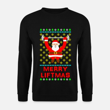 Bodybuilding Merry Liftmas Ugly Christmas Sweater - Men's Sweatshirt
