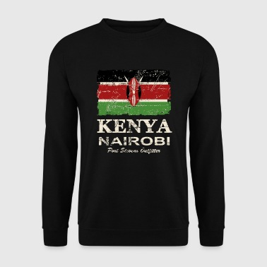 Kenya Vintage Flag - Men's Sweatshirt