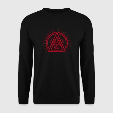 Illuminati - All Seeing Eye - Satan / Black Symbol - Männer Pullover