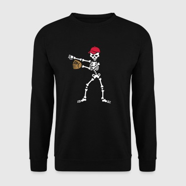 Floss dance flossing skelet honkbal softbal - Mannen sweater