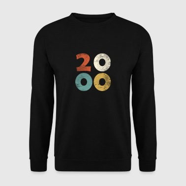 18th Birthday Retro Look - Gift Vintage 2000 - Men's Sweatshirt