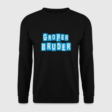 Big Brother belettering comic patch blauw - Mannen sweater