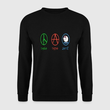 Anarchie Changement d'époques du peace and love au mouton - Sweat-shirt Homme
