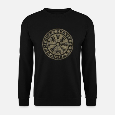 Viking vegvisir Futhark symbole runes magiques viking de protection - Sweat-shirt Homme