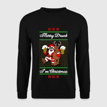 Merry Drunk I´m Christmas Ugly Xmas Sweater Funny - Sudadera hombre