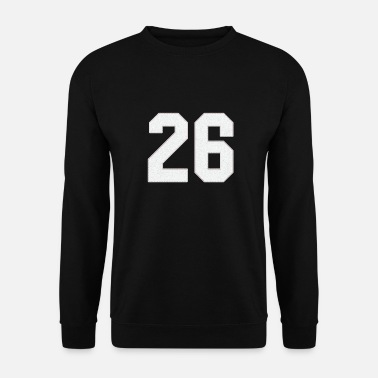 Jersey Number Baseball Sports Jersey Number / Jersey Number 26 - Men's Sweatshirt