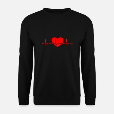 Heart Line ECG HEART LINE HEART red - Men's Sweatshirt