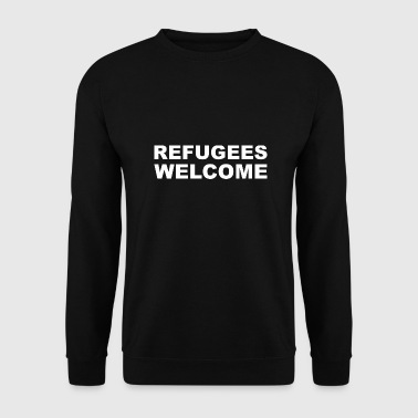 Refugees Welcome refugees welcome refugees Welcome gift - Men's Sweatshirt