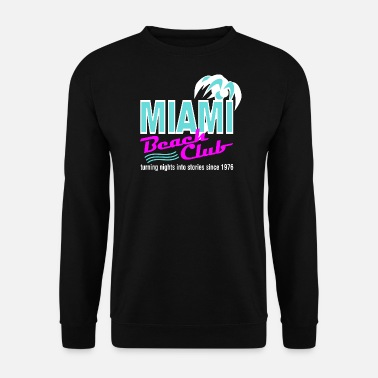 Print Miami Beach Club Palm - Mannen sweater