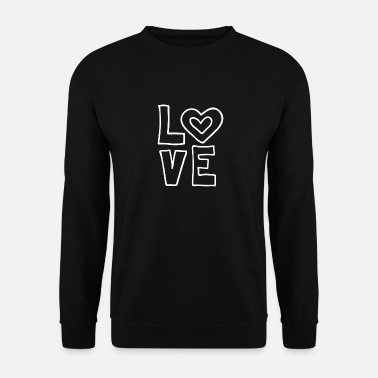I Love Love love valentines day romantic heart heart kiss - Men's Sweatshirt