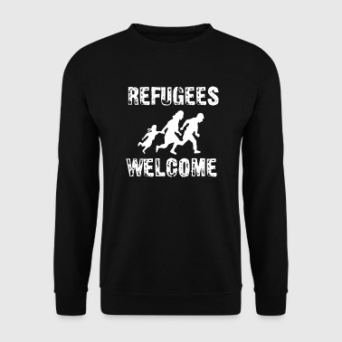 Antifa refugees welcome - Men's Sweatshirt