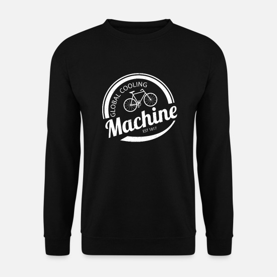 Bicyclette Sweat-shirts - Machine Global Cooling - Sweat-shirt Homme noir