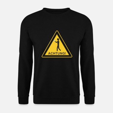 Note Sign - Smartphone User - Men's Sweatshirt