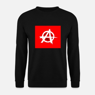 Anarchist Rote Fahne - Rote Flagge, Anarchie / Anarchy - Männer Pullover