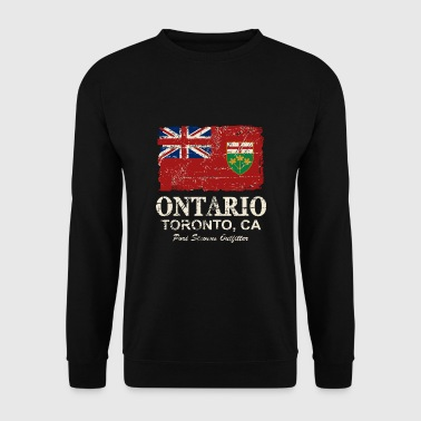 Ontario Flag - Canada - Vintage Look - Men's Sweatshirt