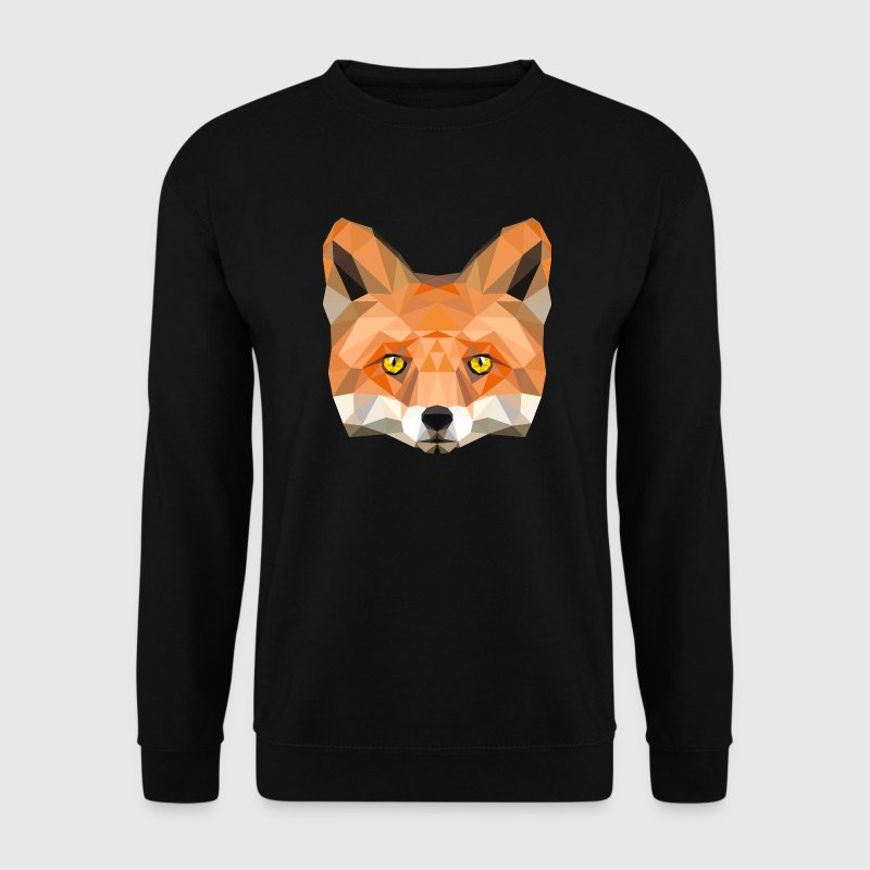 Fuchs Kopf Poly Füchsin fox Illustration low poly - Männer Pullover