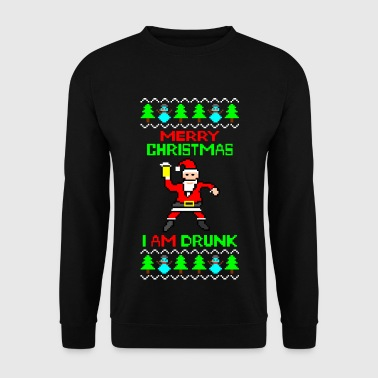 I am Drunk Ugly Christmas Sweater - Felpa da uomo