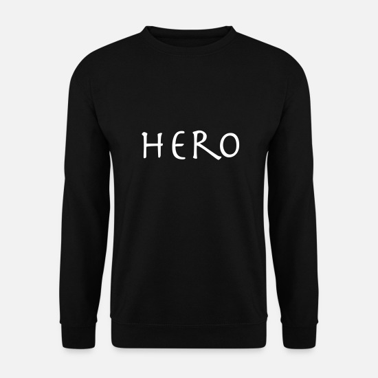 Héros Sweat-shirts - héros - Sweat-shirt Homme noir