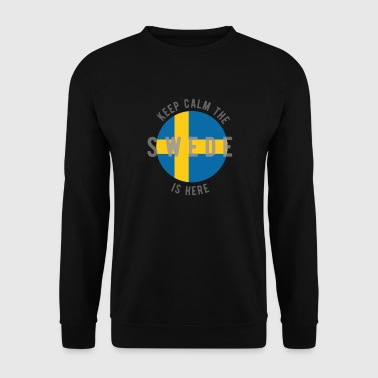 keep calm the swede is here - Men's Sweatshirt