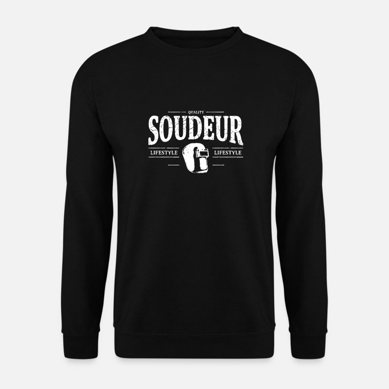 Acier Sweat-shirts - Soudeur - Sweat-shirt Homme noir