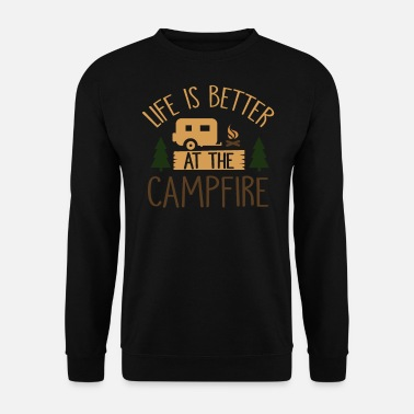 Canada camp camping feu de camp - Sweat-shirt Homme