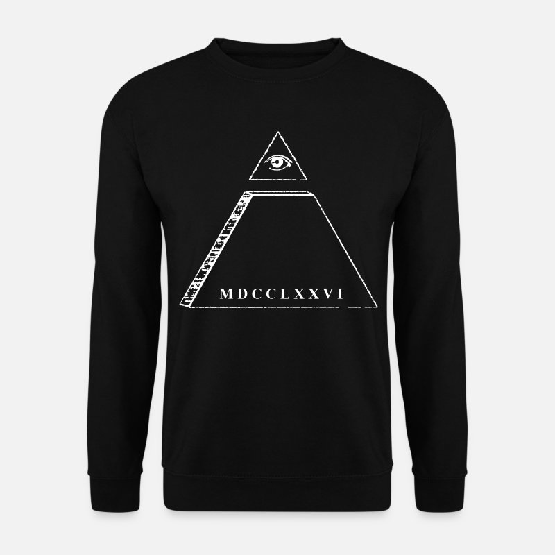 Dollar Sweat-shirts - Pyramide - oeil de la Providence - Sweat-shirt Homme noir