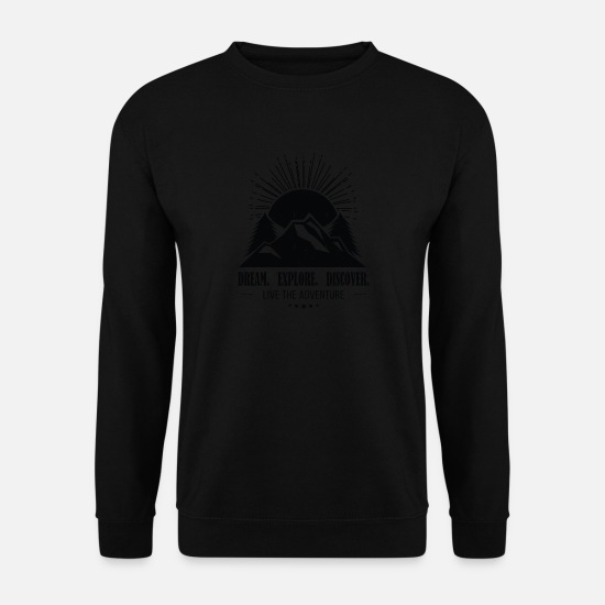 Rocky Mountains Pullover & Hoodies - Mountain - Männer Pullover Schwarz