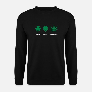Drogue Cannabis / Chanvre / Shamrock - mode Super Lucky  - Sweat-shirt Homme
