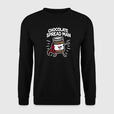Chocolate spread man (place on dark background) - Sweat-shirt Homme
