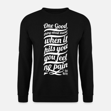 Bob ++Limitierte Edition Music feel no pain - Print++ - Männer Pullover