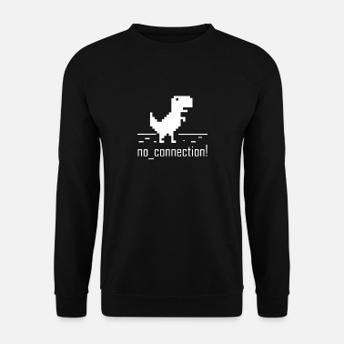 No connection computer error nerd dinosaurier trex - Männer Pullover