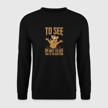 That Is The Question, Ground-Hog Woodchuck - Men's Sweatshirt