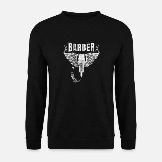 Barber Hoodies & Sweatshirts - Barber shop barbers barber shirt gift beard - Men's Sweatshirt black
