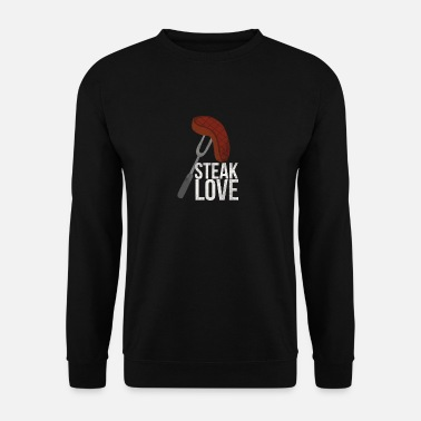 Barbecue au bœuf au barbecue Love Love I Meat BBQ - Sweat-shirt Homme