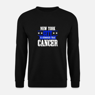 Ruban Rose Cancer Du Sein Ruban rose de sensibilisation au cancer du sein de New York City - Sweat-shirt Homme