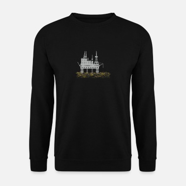 Oil Rig Drilling platform - oil rig - Men's Sweatshirt