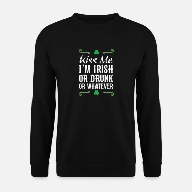 Kiss Me I'm Irish - Funny Party Design - Mannen sweater