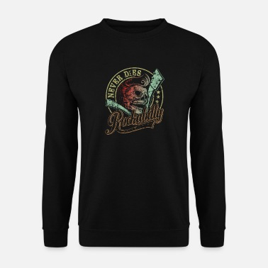 Rockabilly Guitare Skull Skull Vintage Rockabilly - Cadeau pour - Sweat-shirt Homme