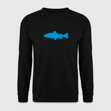truite poisson fish peche 1 - Sweat-shirt Homme
