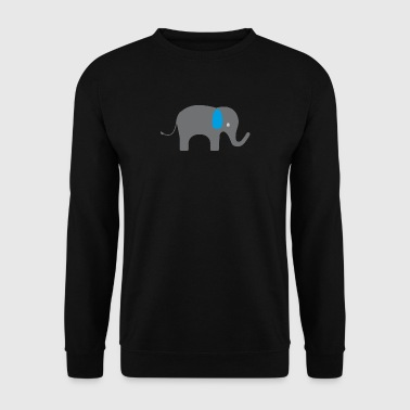 Cute elephant with blue ears - Men's Sweatshirt