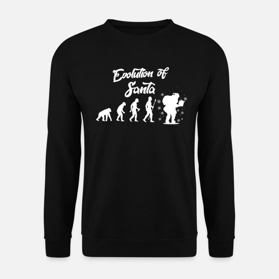 Gift Idea Hoodies & Sweatshirts - Evolution Santa Claus Darwin - Men's Sweatshirt black