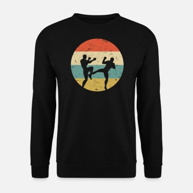 Kick Kickboxer Kick Boxing Muay Thai Vintage Arts Martiaux - Sweat-shirt Homme