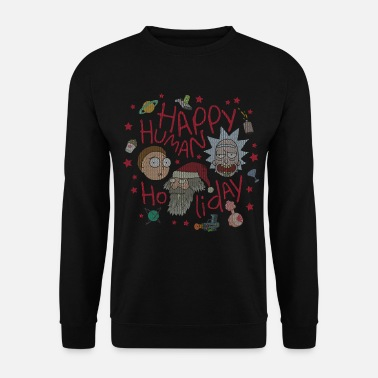 Ugly Christmas Rick and Morty Happy Human Holiday Sweater - Männer Pullover