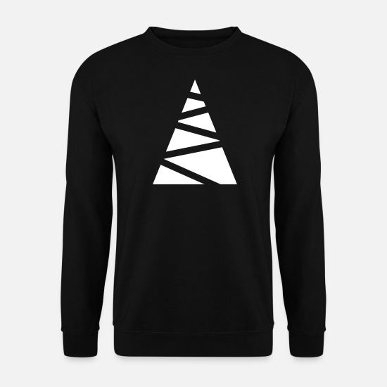 Unisexe Sweat-shirts - Sapin abstrait - Sweat-shirt Homme noir