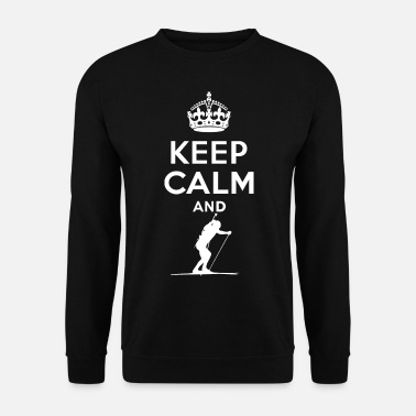 Keep Calm Keep Calm - Skifahren - Sweat-shirt Homme